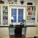 Custom office shelving