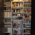 Custom pantry organization
